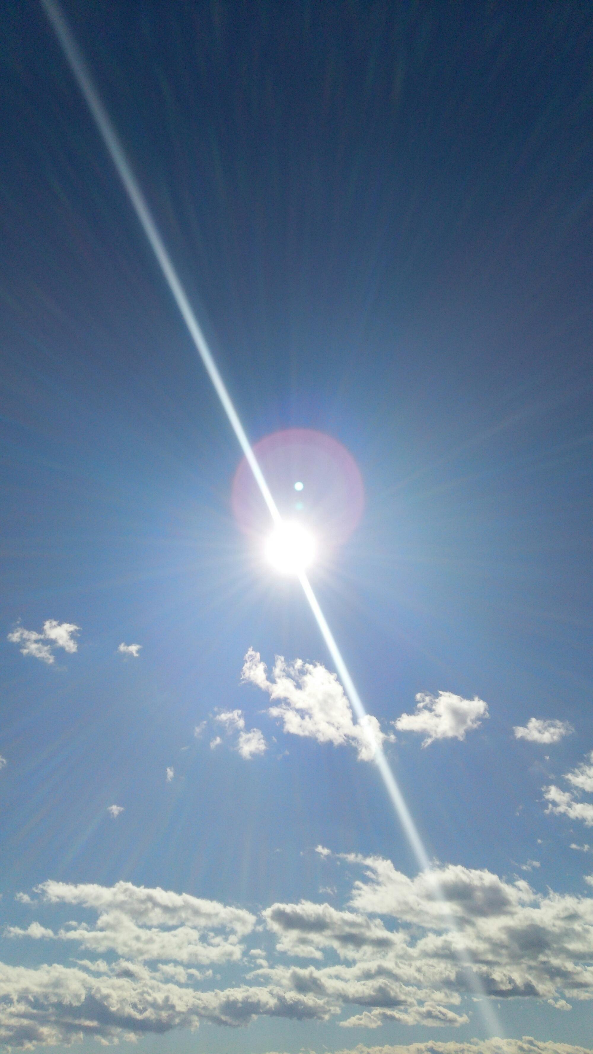 太陽を撮影しました  なんか不思議…ちょっと見てください!